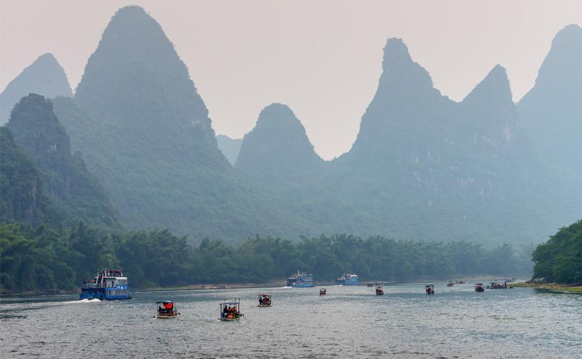 竹筏游漓江